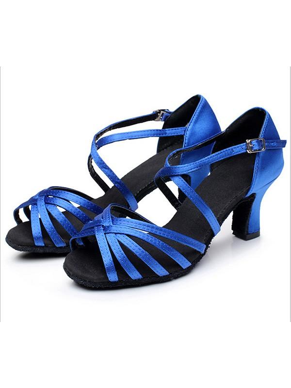 Women's Satin Cone Heel Peep Toe Sandals