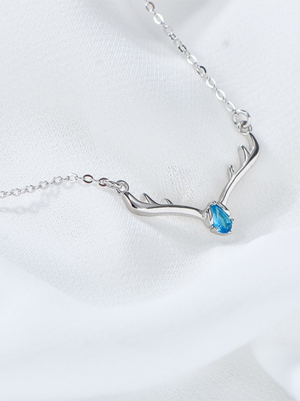 Fashion S925 Silver With Rhinestone Necklaces For Women
