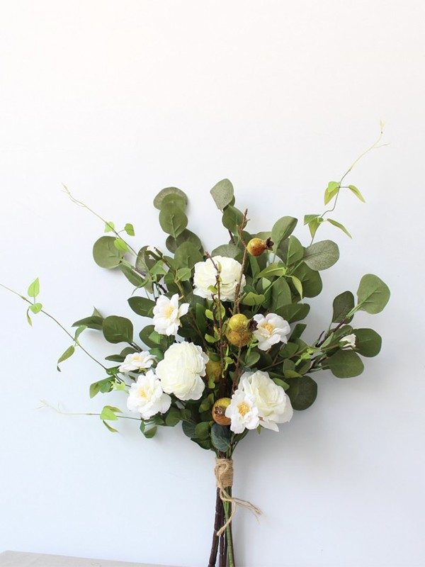 Simple Free-Form Silk Flower Bridal Bouquets