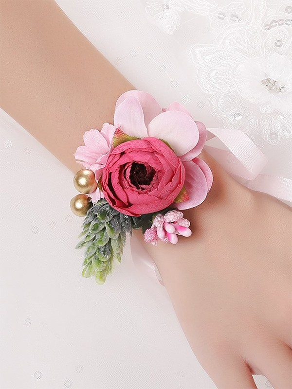 Nice Silk Flower Wrist Corsage
