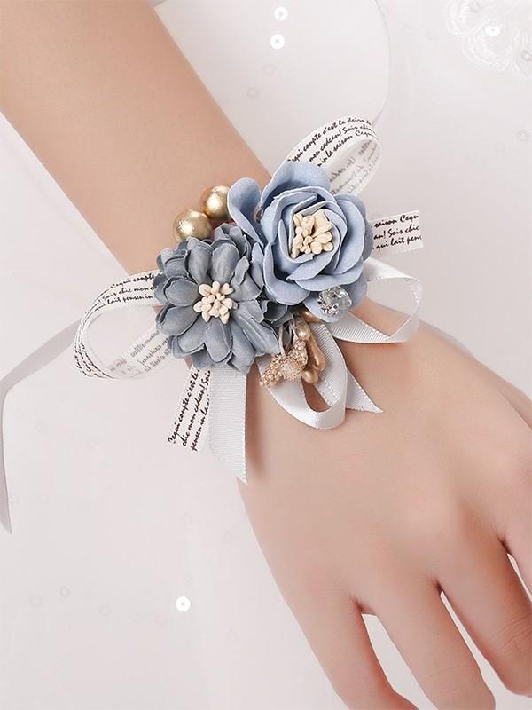 Fashion Silk Flower Wrist Corsage