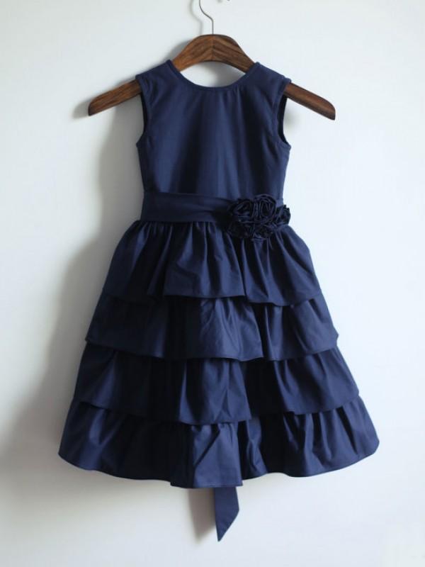 Just My Style Princess Style Jewel Sash/Ribbon/Belt Long Taffeta Flower Girl Dresses