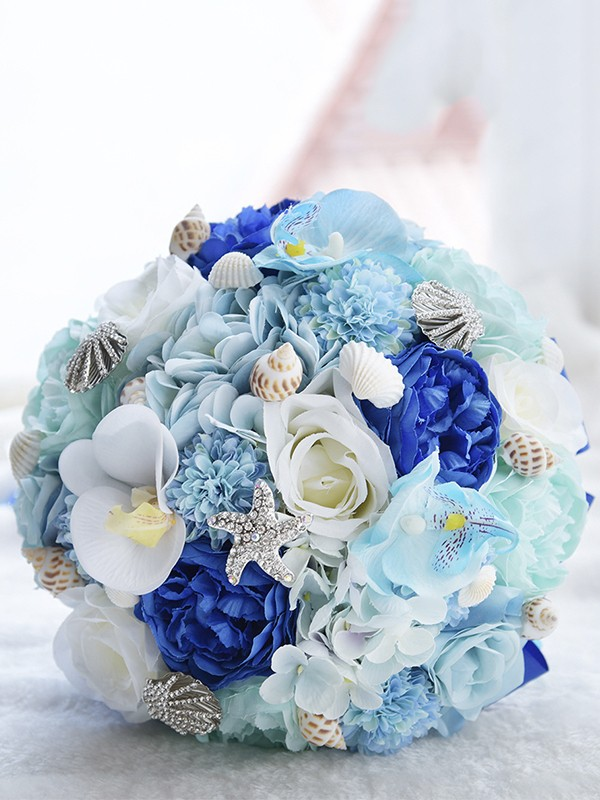 Gorgeous Round Artificial Flower Bridal Bouquets