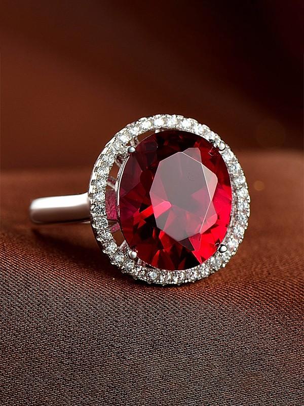 Trending S925 Silver With Zircon Adjustable Wedding Rings