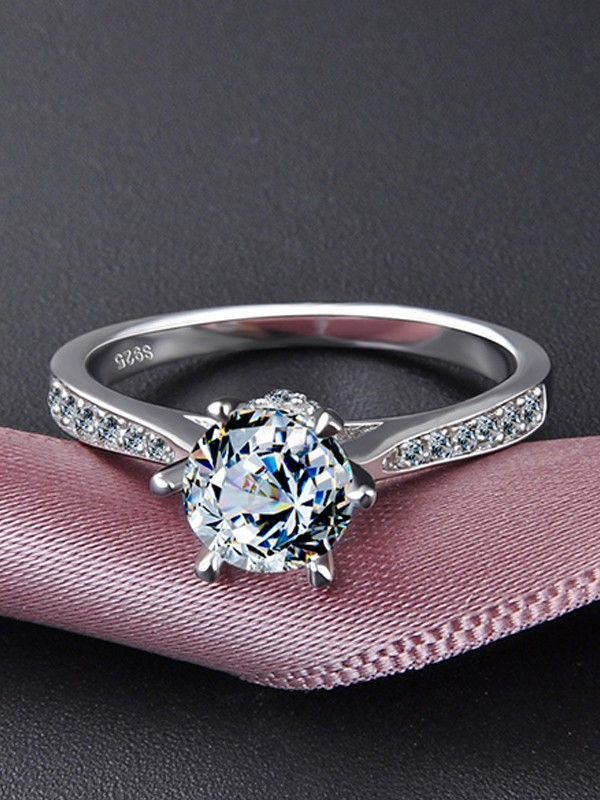 Trending S925 Silver With Zircon Hot Sale Wedding Rings