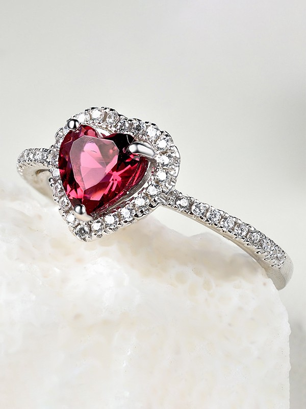 Gorgeous S925 Silver With Zircon Hot Sale Wedding Rings